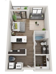 Cascade Loft Unit Floor Plan