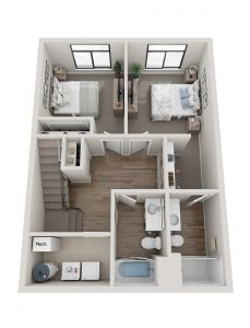 Cascade Townhouse Lower Level Floor Plan