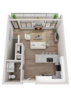 Cascade Townhome Top Level Floor Plan