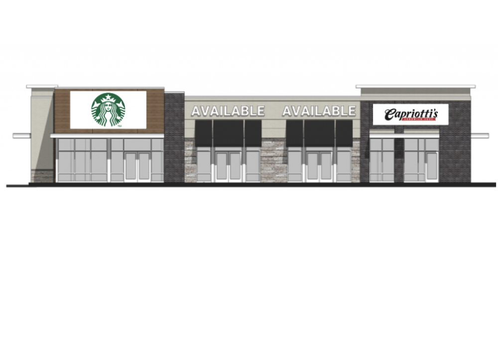 Starbucks And Capriotti's Lease Space At New Retail Center On Popular Corner