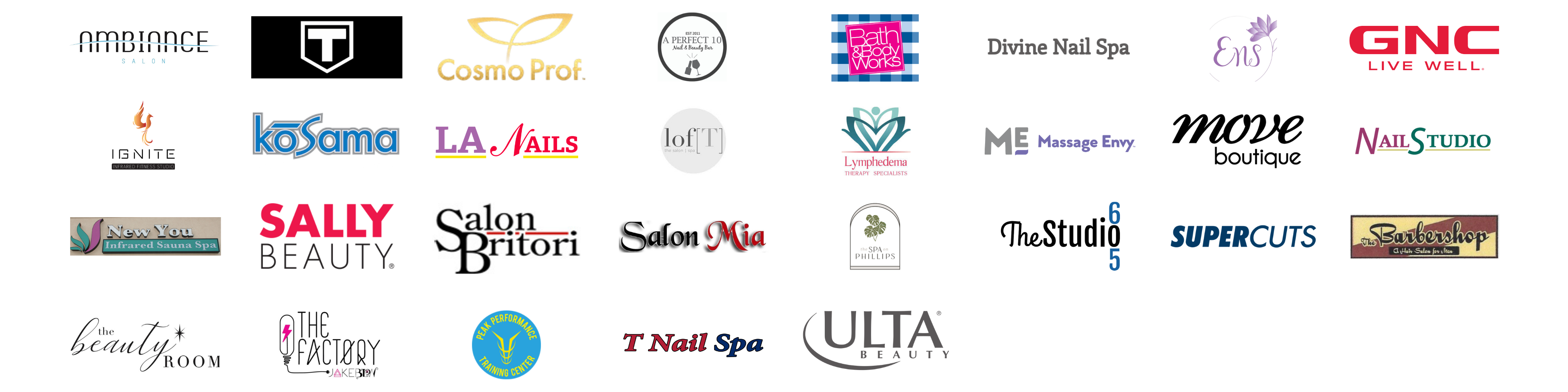 Support Local Health & Beauty Logos