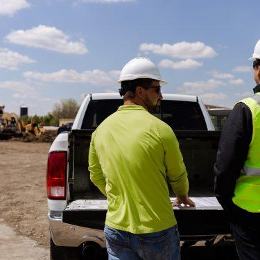 Lloyd Construction team on construction site